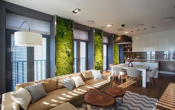 """Độc đáo căn hộ có 3 """"mảnh vườn""""... trên tường 1"""