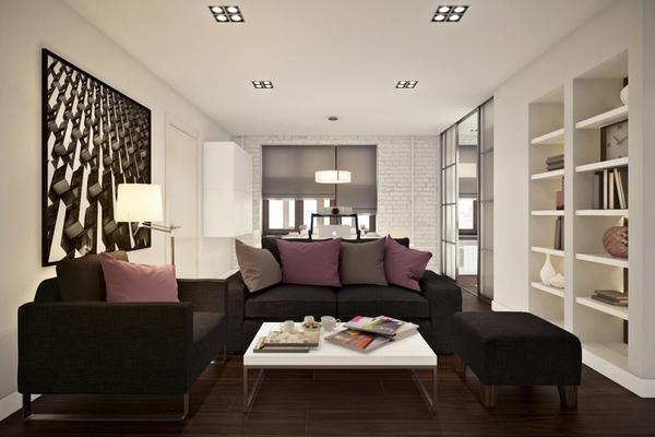 Ngắm căn hộ 45m² đẹp sang trọng với gam màu nâu - trắng 3