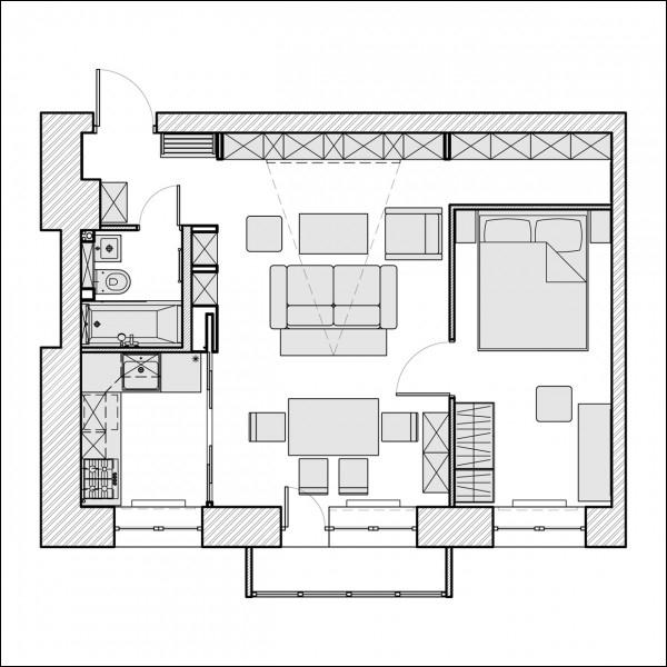 Ngắm căn hộ 45m² đẹp sang trọng với gam màu nâu - trắng 1