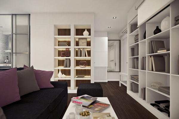Ngắm căn hộ 45m² đẹp sang trọng với gam màu nâu - trắng 5