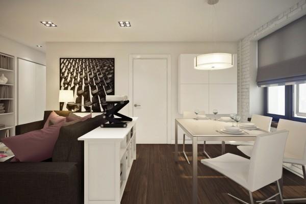 Ngắm căn hộ 45m² đẹp sang trọng với gam màu nâu - trắng 2