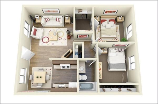 căn hộ 2 phòng ngủcăn hộ 2 phòng ngủ