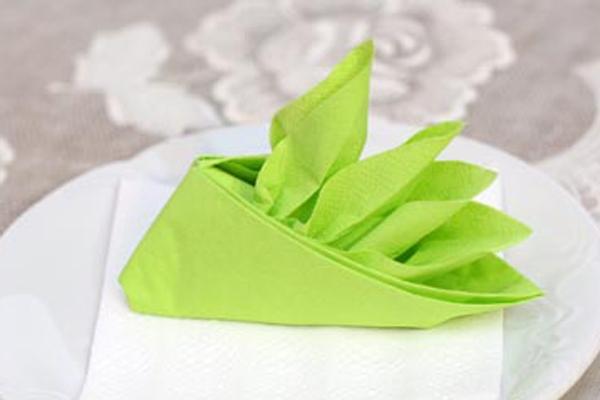 Cách gấp khăn ăn hình chiếc thuyền đẹp mắt 15