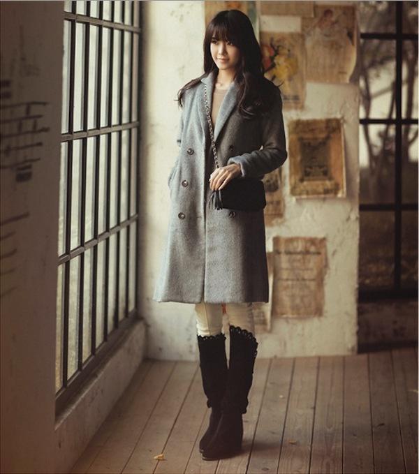 4 phong cách phối đồ cùng áo khoác dạ ấm áp 15
