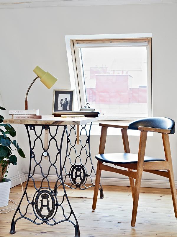 Thêm cảm hứng sáng tạo với bàn làm việc duyên dáng từ gỗ cũ 8