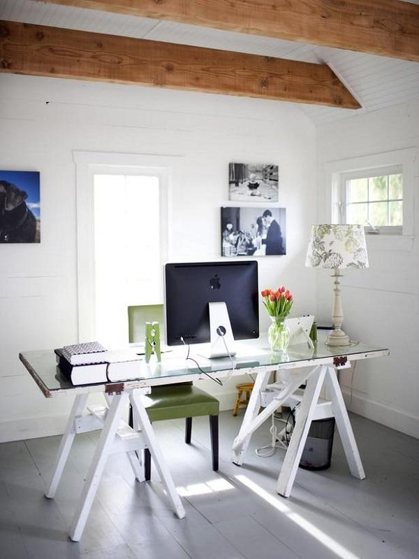 Thêm cảm hứng sáng tạo với bàn làm việc duyên dáng từ gỗ cũ 1