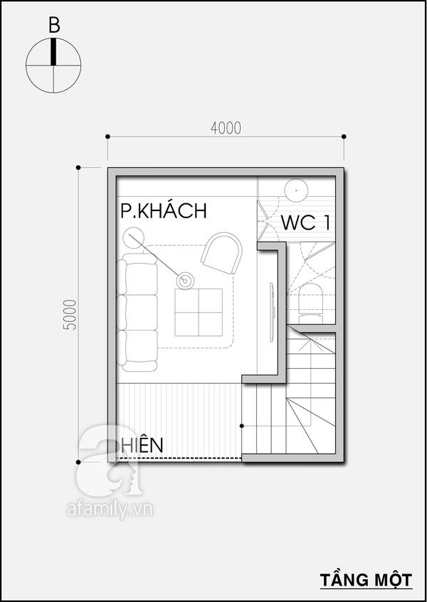Tư vấn thiết kế nhà 20m² tiện nghi cho gia đình 5 người 1