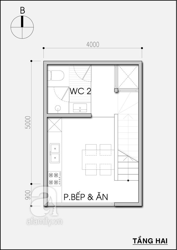 Tư vấn thiết kế nhà 20m² tiện nghi cho gia đình 5 người 2