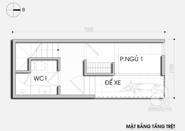 """Thiết kế nhà 19m² """"hạn chế đủ đường"""" cho gia đình 4 người 1"""