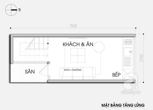 """Thiết kế nhà 19m² """"hạn chế đủ đường"""" cho gia đình 4 người 2"""