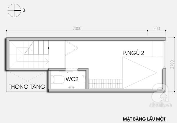 """Thiết kế nhà 19m² """"hạn chế đủ đường"""" cho gia đình 4 người 3"""
