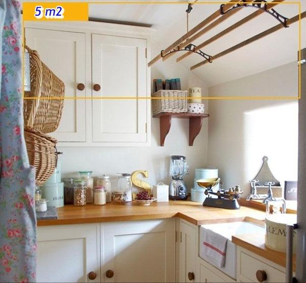 Mẹo tận dụng 5 mét vuông biến phòng bếp trở nên gọn gàng