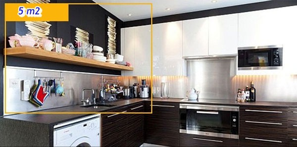 Mẹo tận dụng 5 mét vuông biến phòng bếp trở nên gọn gàng 8