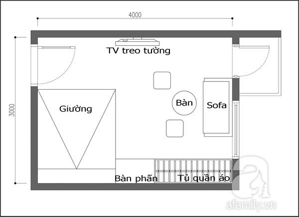 Tư vấn thiết kế không gian đa năng cho căn phòng rộng 12 mét vuông 1