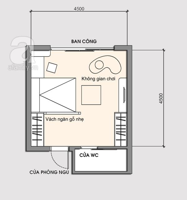 Tư vấn bài trí phòng ngủ 20m² cho gia đình có con nhỏ 2