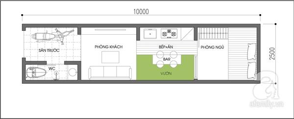 Tư vấn thiết kế nhà 25m2 đầy đủ tiện nghi 1
