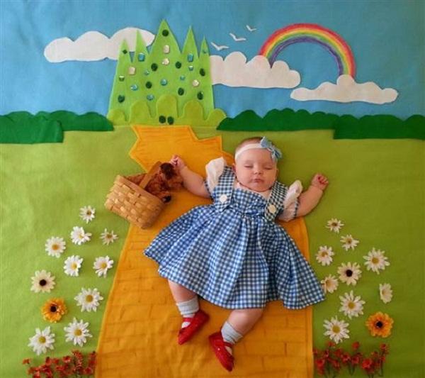 Bộ ảnh đẹp như cổ tích bà ngoại chụp cho cháu gái 4