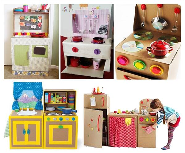 Ý tưởng đơn giản biến thùng các-tông thành đồ chơi cho bé 1