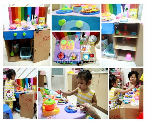 Ý tưởng đơn giản biến thùng các-tông thành đồ chơi cho bé 2