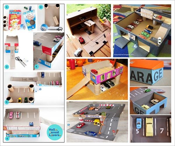 Ý tưởng đơn giản biến thùng các-tông thành đồ chơi cho bé 3