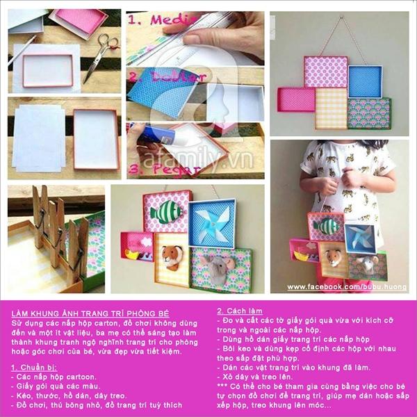 Ý tưởng đơn giản biến thùng các-tông thành đồ chơi cho bé 4