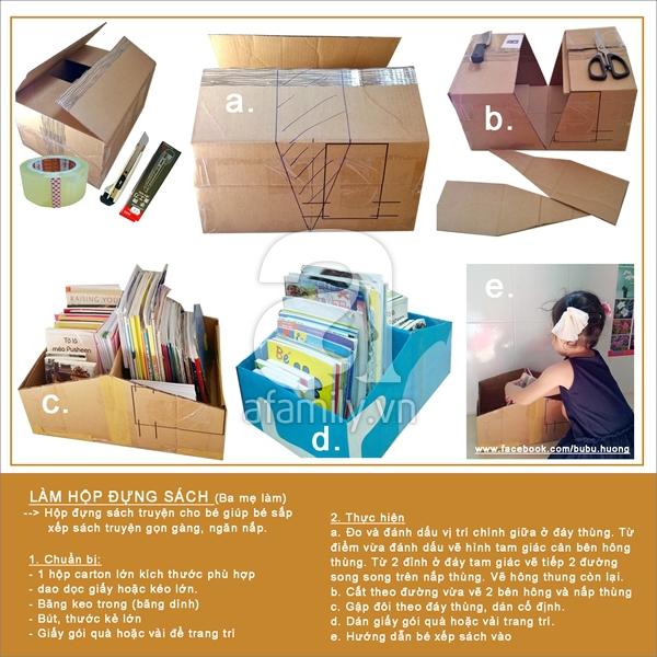 Ý tưởng đơn giản biến thùng các-tông thành đồ chơi cho bé 5