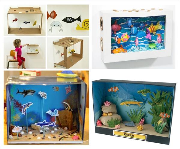 Ý tưởng đơn giản biến thùng các-tông thành đồ chơi cho bé 6