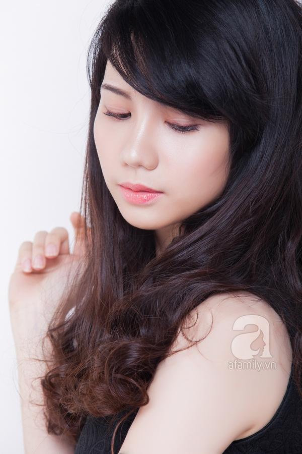 Che khuyết điểm mặt to chỉ với lớp trang điểm nhẹ và kiểu tóc 6