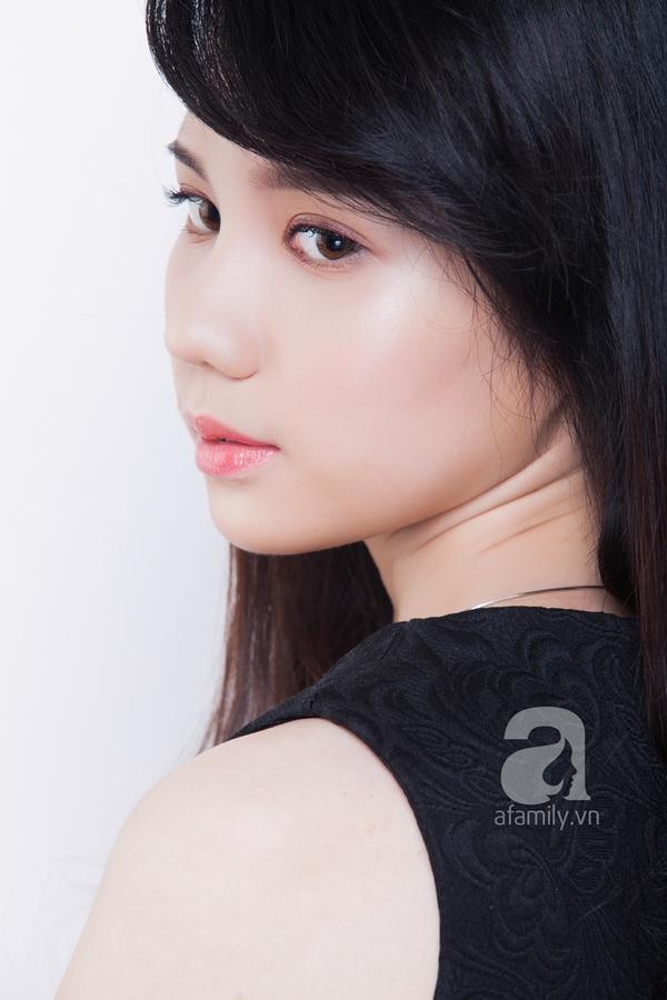 Che khuyết điểm mặt to chỉ với lớp trang điểm nhẹ và kiểu tóc 7
