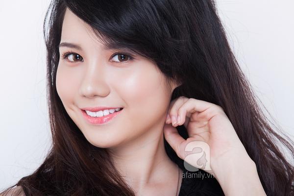Che khuyết điểm mặt to chỉ với lớp trang điểm nhẹ và kiểu tóc 4
