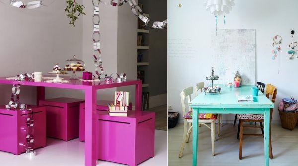 Làm đẹp và sống động không gian nhờ chiếc bàn màu sắc 1