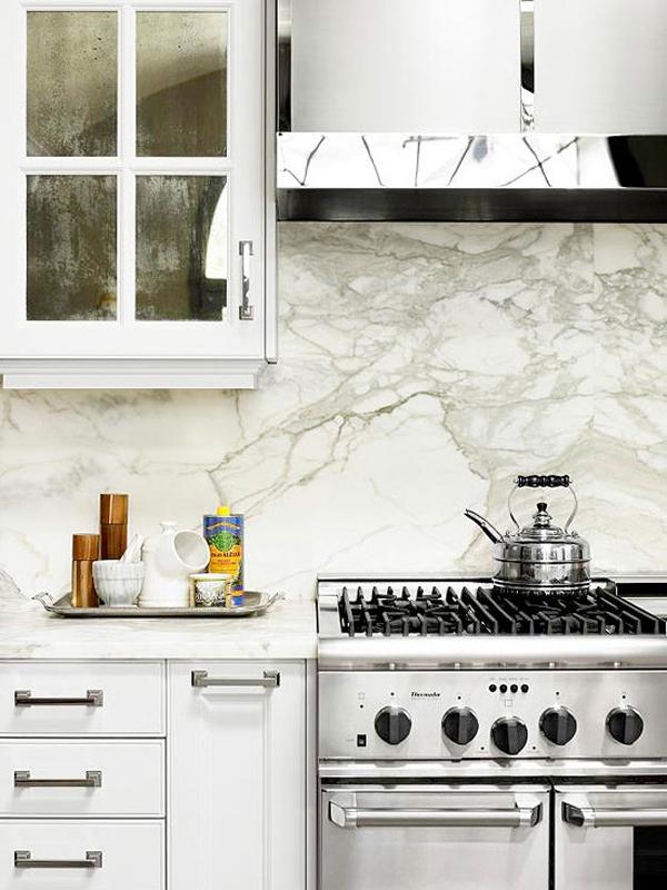 Bài trí bếp hiện đại, mát mẻ với sắc trắng 4