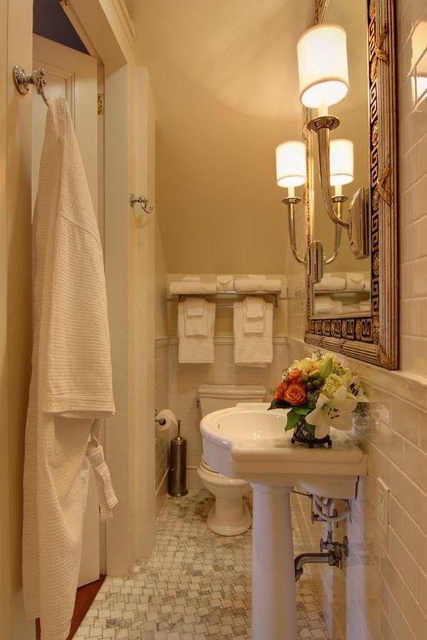 4 lưu ý bài trí  giúp phòng tắm hẹp ấn tượng hơn 6