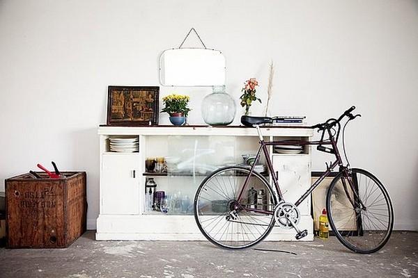 Độc đáo muôn kiểu trang trí nhà bằng... xe đạp 2