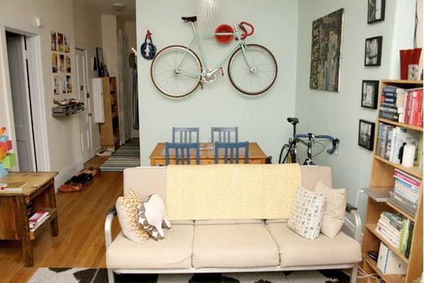 Độc đáo muôn kiểu trang trí nhà bằng... xe đạp 4