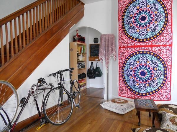 Độc đáo muôn kiểu trang trí nhà bằng... xe đạp 8