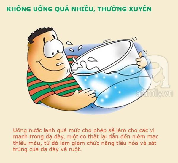 cấm kị khi uống nước lạnh 5