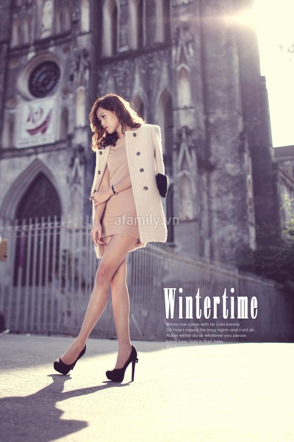 Mặc đẹp ngày đông với áo khoác màu trung tính 5