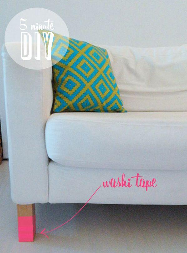 Làm mới không gian và đồ nội thất bằng băng dính Washi 4