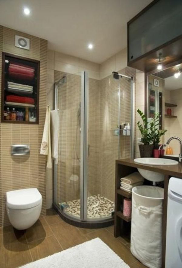 meo hay de toi da hoa khong gian phong tam nho phan 1 Bí quyết tối đa hóa không gian phòng tắm nhỏ trở nên thoáng rộng hơn