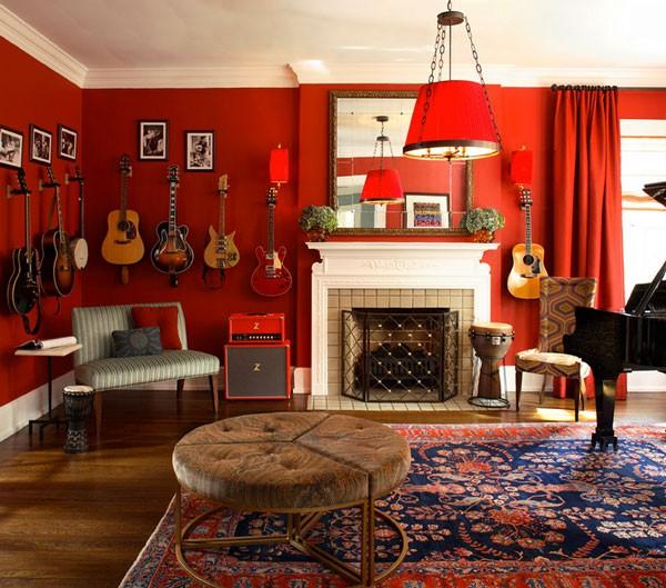 không gian sống rực rỡ và may mắn với màu đỏ 6