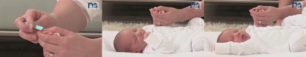 Cắt móng tay cho bé