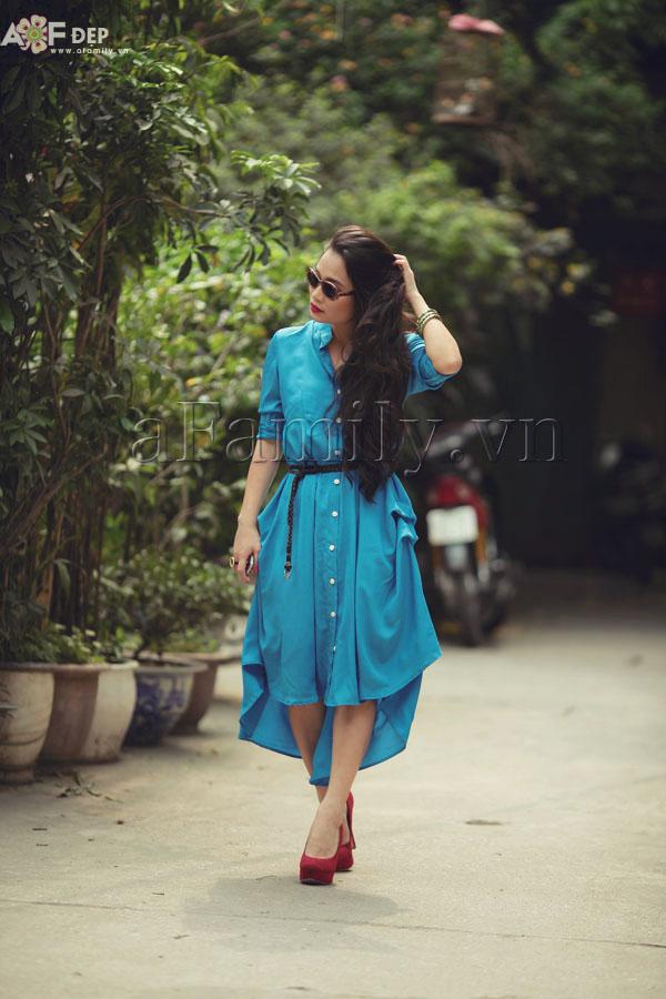 """Liu Trần - quý cô """"mặc váy dài 10 năm chưa biết chán!"""" 6"""