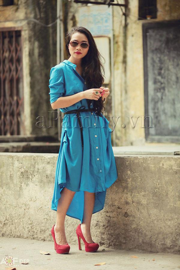"""Liu Trần - quý cô """"mặc váy dài 10 năm chưa biết chán!"""" 3"""