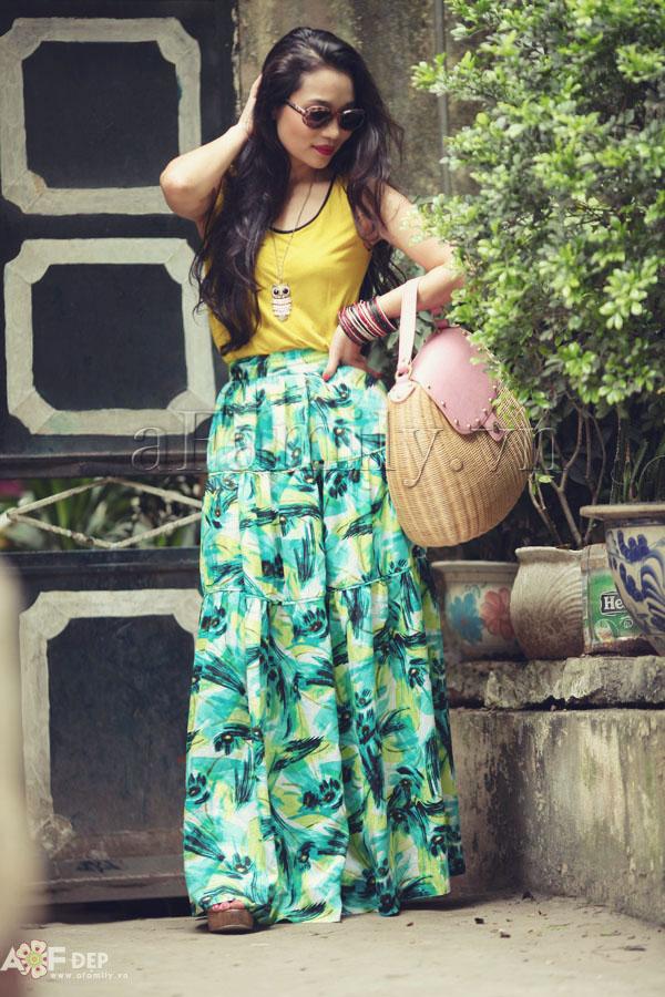 """Liu Trần - quý cô """"mặc váy dài 10 năm chưa biết chán!"""" 19"""