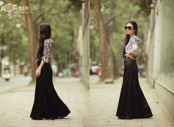 """Liu Trần - quý cô """"mặc váy dài 10 năm chưa biết chán!"""" 17"""