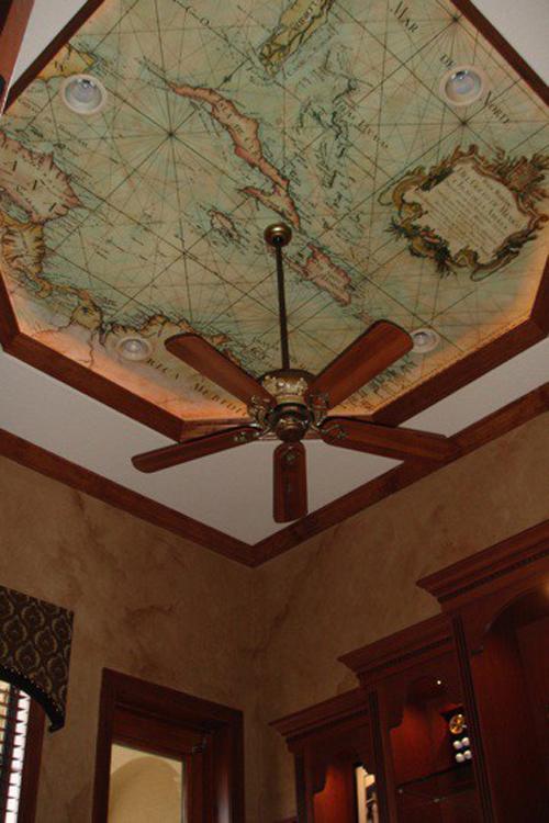 Tận dụng bản đồ cũ để trang trí nhà thêm xinh 1