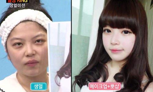 Gương mặt thật gây sốc của các búp bê xinh đẹp xứ Hàn 9