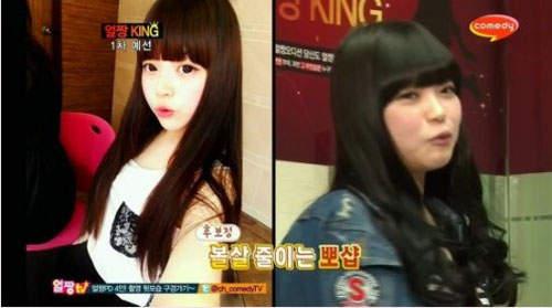 Gương mặt thật gây sốc của các búp bê xinh đẹp xứ Hàn 10