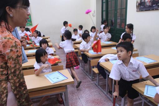 Bé Thiện Nhân vào lớp Một